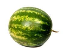 Зрелый striped вкусный конец арбуза на белизне Стоковые Фото