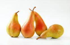 4 зрелых груши Стоковая Фотография