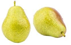 2 зрелых желтых плодоовощ груши Стоковое Фото