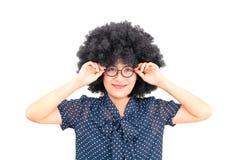 Зрение азиатской женщины хорошее стоковое изображение