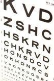 зрение испытания глаза диаграммы Стоковые Изображения