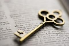 Зрение ключевого понятия успеха в бизнесе стоковые изображения