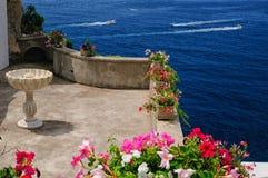 Зрение на побережье Амальфи Стоковые Фотографии RF