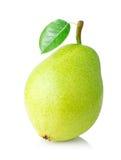 Зрелая груша с зеленым цветом Стоковые Изображения