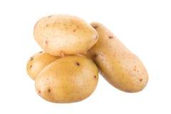 Зрелая золотая картошка на белой предпосылке Вегетарианская еда французско стоковое изображение rf