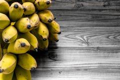 Зрелая предпосылка банана/зрелый банан/зрелый банан на винтажной предпосылке Стоковое Изображение