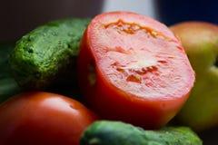 Зрелая съемка макроса овощей Стоковое Изображение