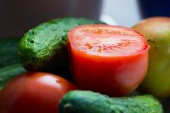 Зрелая съемка макроса овощей Стоковые Фотографии RF