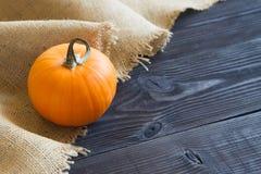 Зрелая тыква на деревянной предпосылке Стоковые Фото