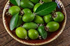 Зрелое feijoa плодоовощ Стоковое Фото