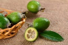 Зрелое feijoa плодоовощ Стоковая Фотография