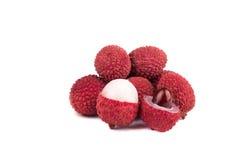 Зрелое lychee изолированное на белизне Стоковое Изображение RF