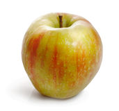зрело сладостно Сочное яблоко на белой предпосылке Стоковые Фотографии RF