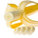 Зрелые бананы изолированные на белизне Стоковые Изображения RF