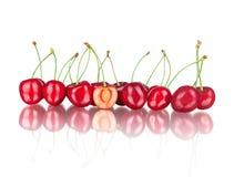 Зрелые вишни с отражением Стоковое Изображение