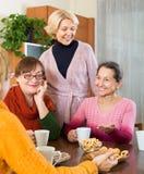 Зрелые женщины выпивая чай Стоковое Фото
