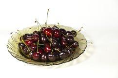 Зрелые красные вишни Стоковые Фото