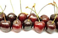 Зрелые красные ягоды вишни Стоковые Изображения RF