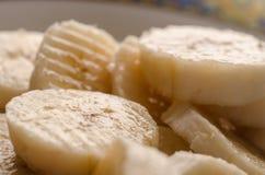 Зрелые куски банана Стоковые Фотографии RF