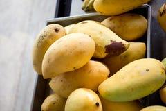 Зрелые манго Alphonso - король плодоовощей Стоковое Изображение RF