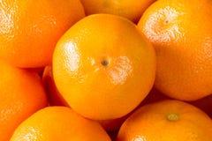 Зрелые оранжевые Клементины, tangerines или мандарины Стоковое Фото