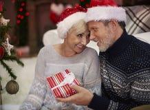 Зрелые пары во время рождества Стоковые Изображения RF