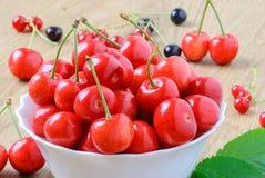 Зрелые плодоовощи вишни Стоковая Фотография