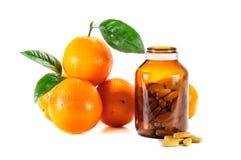 Зрелый апельсин, Витамин C Стоковое фото RF