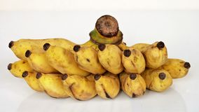 Зрелый взгляд банана от фронта Стоковое Изображение