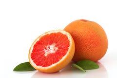 Зрелый грейпфрут на белой предпосылке Стоковое Фото