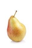 Зрелый красный плодоовощ груши изолированный на белой предпосылке Стоковая Фотография