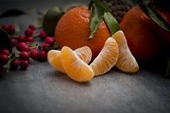 Зрелый оранжевый tangerine Стоковая Фотография RF