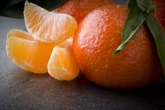 Зрелый оранжевый tangerine Стоковые Изображения RF