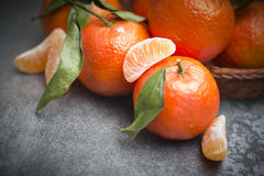 Зрелый оранжевый tangerine Стоковое Изображение
