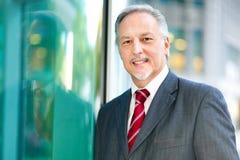 Зрелый портрет бизнесмена внешний Стоковые Фото