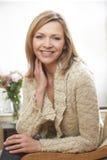 Зрелый портрет женщины стоковое изображение rf