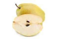 Зрелый плодоовощ груши на белизне Стоковые Изображения RF