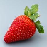 Зрелый плодоовощ клубники на серой предпосылке Стоковая Фотография RF