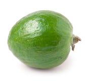 Зрелый плодоовощ feijoa, изолированный на белизне Стоковые Изображения RF