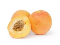 3 зрелых абрикоса Стоковые Изображения