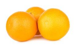 3 зрелых апельсина изолированного на белизне Стоковое фото RF