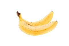 2 зрелых банана изолированного на белизне Стоковые Фото