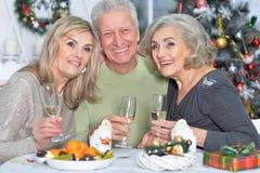 2 зрелых женщины и человек Стоковые Изображения RF