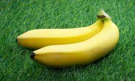 2 зрелых желтых банана Стоковое Изображение RF
