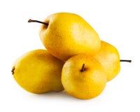4 зрелых желтых груши Стоковые Фото