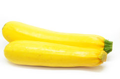 2 зрелых желтых courgettes Стоковое фото RF