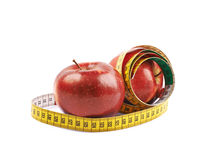 2 зрелых красных изолированного яблока Стоковое Фото
