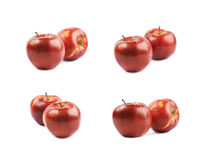 2 зрелых красных изолированного яблока Стоковое Изображение