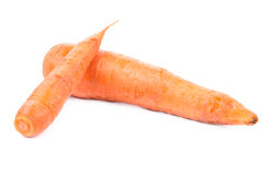 2 зрелых моркови Стоковые Изображения