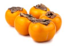 5 зрелых плодоовощей хурмы Стоковое фото RF